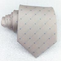 Luxus Krawatte seide beige breit jacquard  Morgana Italien hochzeit business