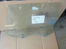 SUBARU LEGACY 1991 OFFSIDE DRIVER SIDE REAR DOOR WINDOW GLASS