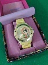 Ed Hardy Japanese Geisha Wrist Watch by Christian Audigier Yellow in Box