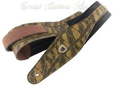 """Genuine Leather Soft Padded """"Sliced Up"""" Electric, Acoustic, Bass Guitar Strap"""