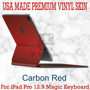 RT.SKINS - CARBON RED Full Body Skin for Apple iPad Pro 12.9 Magic Keyboard