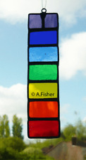 Stained Glass 'Rainbow Stick' - Handmade - Suncatcher - NEW - 15.5cms (6ins)