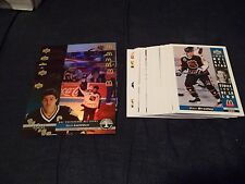 1993-94 Upper Deck McDonald's NHL Hockey Set #1-27 + NNO checklist + 6 Holograms