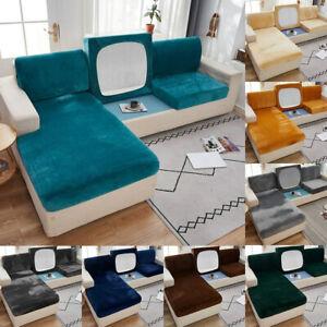 Luxury Velvet Sofa Seat Cushion Cover L Shape Sofa Couch Seat Elastic Slipcovers