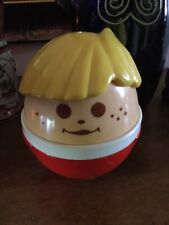 "Vintage JUMBO Little Tikes TODDLE TOTS Weeble Wobble 5"" Chime Ball"