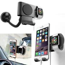 Car Aluminum Charging Dock Station Charger Holder Stand For Apple Watch iPhone
