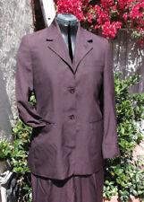 Romeo Gigli purple silk jacket ICONIC 44 NWOT Italy roll-up sleeves pants-avlbl
