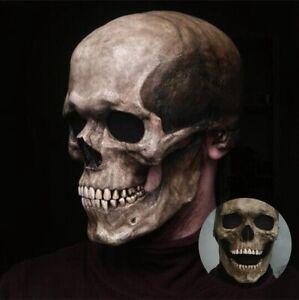 Masque de tête de mort pour Halloween , squelette 3d, masque d'horreur en Latex