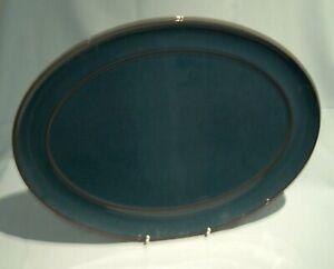 Denby Harlequin Oval Service Meat Platter Green 37cm Used