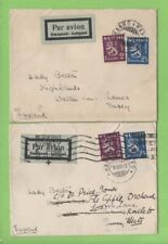 Finland 1932 two airmail covers to Lady Beeton, (one re-directed) England