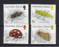 ASCENSION ISLAND MNH STAMP SET 1988 INSECTS 2ND SERIES SG 452-455
