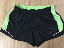 NWOT's NIKE Medium Athletic Shorts DRI-FIT Black & Hi-VIZ Yellow Awesome Look !