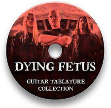 Dying Fetus Death Metal Rock Guitar Tabs Tablaturas canción Libro Biblioteca de Software CD
