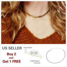 Choker Metal Gold Silver Necklace Arrow Chain Collar Women Dress Jewelry G*