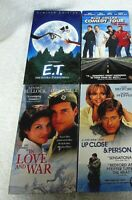 VHS : E.T., Love & War, Blue Collar, Up Close & Personal Lot of 4 NEW RA25
