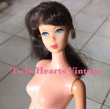 Vintage 60s MOD TNT Twist N Turn Brunette Side Ponytail Talking Barbie Head Doll