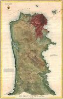 1869 Coastal Survey Map Nautical Chart San Francisco Peninsula