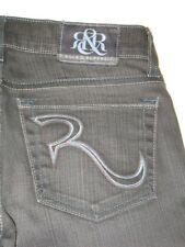 Rock & Republic Womens Jeans Berlin Slim Straight Skinny Dark Gray Sz 25 P