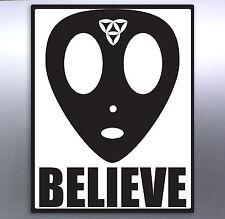 Alien Head Believe Vinyl Sticker 130 × 100 mm aussie made & design Ufo Space JDM