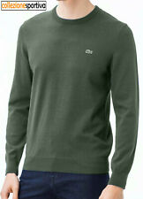 MAGLIONE LACOSTE IN COTONE REGULAR FIT - AH3467-00-6YP col. verde scuro