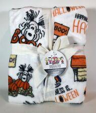 "Berkshire Velour Soft Throw Blanket Halloween Peanuts  55"" X 70""  Snoopy New"
