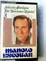 Manolo Escobar Seleccion antologica del cancionero español  Cassette 1988 Usado