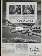 CESSNA AIRCRAFT COMPANY 1945 SISTERS UNDER THE SKIN BOEING B-29 18 PARTS AD