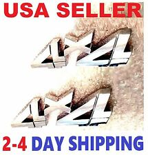 X2 Chrome 4 X 4 EMBLEM 4X4 old logo decal Front Self Adhesive BADGE UNIVERSL FIT