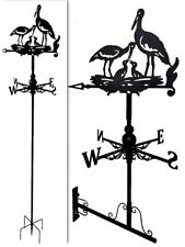 Floor standing and wall mounted Weathervanes Steel Crane Family Weathervane