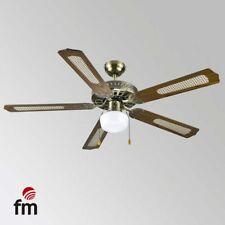 Ventilador de Techo con Luz Elegante FM VTCLASSIC130 132CM 5A 60W de Madera