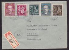 Germany 1944 Cover Registered Grossdeutsches Reich Oberschlesien Otto Schindler