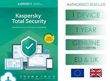 KASPERSKY TOTAL SECURITY 1 PC OR DEVICE 1 YEAR EU & UK GENUINE LICENSE - EMAIL