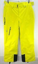 Spyder XtL 20/20k Snow Pants Men's Size L Ski Snowboard High Viz Lime Green