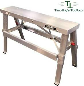 """Drywall Bench Adjustable Height 18""""- 30"""" by Renegade- Professional Quality"""