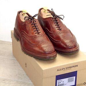 * NIB * $425 Allen Edmonds MCTAVISH 8.5 D Tan Horween * new Shoe Trees AE Bags