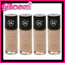 4 x REVLON COLORSTAY 24HR FOUNDATION MAKEUP COMBINATION/OILY 200 NUDE