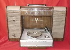 Rare ancêtre des boombox vintage radio phono Crown SPH-100 à restaurer