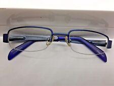 Float Milan Kids Eyeglasses Frame Half Rimless. FLT KF305W. Matt Navy. 43-17-120