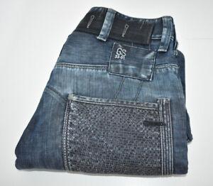 Mens G-STAR Raw Fire Elwood Narrow Denim Jeans W30 L30 Dark Blue Button Fly
