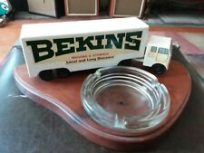Vintage Bekins Dye Cast Metal Truck Attached To Ash Tray 50's - 60's
