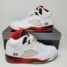 Nike Air Jordan Fire Red 5 Retro 2006 White Blk V 136027-162  Sz 11.5