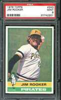1976 TOPPS #243 JIM ROOKER PSA 9 PIRATES *K0748