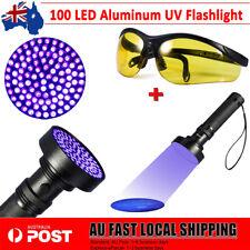 100 LED Black Aluminum F5 UV Ultra Violet Flashlight Torch Light Lamp 395nm