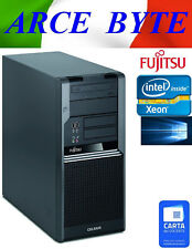 WORKSTATION FUJITSU CELSIUS W380 SERVER MIDTOWER XEON QUADCORE WIN10 FATTURABILE