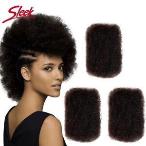 "14"" Natural Colour Braid Hair Sleek 100% Human Hair Afro Kinky Curly Wave Bulk"