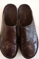 CLARKS Mule Slip on Clog womens Size 10 N Brown Comfort Shoes #79960