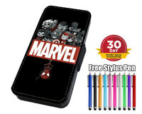 Anime Marvel Super Hero Flip Phone Case Cover for iPhone 11 Samsung And Huawei