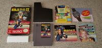 Ninja Gaiden II: The Dark Sword of Chaos 2 Nintendo NES Box Manual Complete CIB!