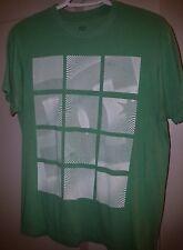 Used Men's DC SHOES Green Logo Cotton/Poly Tagless Skater T-Shirt SZ M HTF 2010