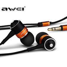AWEI Q3 Headset Super Bass Wooden Headphone In-Ear Earphone For Phone/PC/MP3